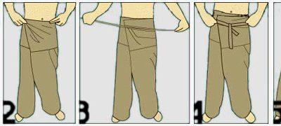 Kako obleči tradicionalne tajske hlače oz. Thai Fisherman Pants?